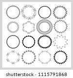 big set of  empty round frames. ... | Shutterstock .eps vector #1115791868