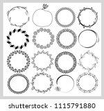 big set of  empty round frames. ... | Shutterstock .eps vector #1115791880