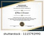 creative certificate design... | Shutterstock .eps vector #1115792990