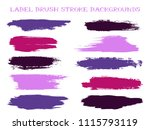 hipster label brush stroke... | Shutterstock .eps vector #1115793119