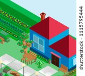 isometric game background ... | Shutterstock .eps vector #1115795444