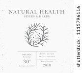 natural health   emblem of... | Shutterstock .eps vector #1115796116