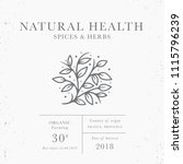 natural health   emblem of... | Shutterstock .eps vector #1115796239