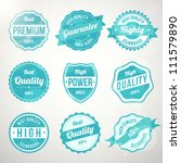 collection of retro vintage... | Shutterstock .eps vector #111579890