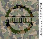 antitheft camouflaged emblem   Shutterstock .eps vector #1115799758