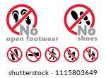 no shoes no open footwear... | Shutterstock .eps vector #1115803649