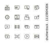 video content icons. set of ... | Shutterstock .eps vector #1115804306