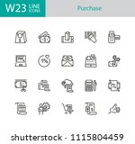 purchase icons. set of twenty... | Shutterstock .eps vector #1115804459