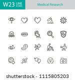 medical research icons. set of... | Shutterstock .eps vector #1115805203