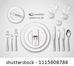 ... Table setting realistic top view with modern cutlery set serving for one person 3d vector illustration ...  sc 1 st  Vecteezy & Table Setting Free Vector Art - (20433 Free Downloads)