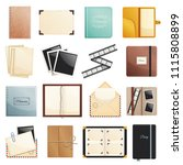 memories collection of photo... | Shutterstock .eps vector #1115808899