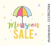 happy monsoon season sale...   Shutterstock .eps vector #1115812466