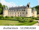 the historic ch teau de bussy... | Shutterstock . vector #1115814260