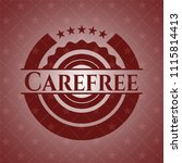 carefree realistic red emblem | Shutterstock .eps vector #1115814413