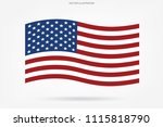 abstract american flag on white ... | Shutterstock .eps vector #1115818790