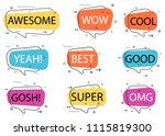 trendy speech bubble isolated... | Shutterstock . vector #1115819300