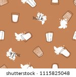 hand drawn seamless pattern... | Shutterstock .eps vector #1115825048