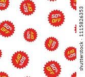 discount sticker icon seamless... | Shutterstock .eps vector #1115826353