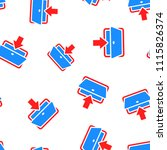 entrance door icon seamless...   Shutterstock .eps vector #1115826374
