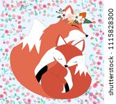 Seamless Pattern Fox Mother And ...