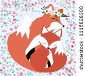 Seamless Pattern Fox Mother An...