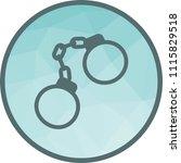 handcuffs  arrested  criminal | Shutterstock .eps vector #1115829518