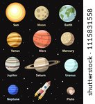 vector isolated planets and... | Shutterstock .eps vector #1115831558