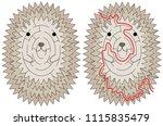 hedgehog maze for kids | Shutterstock .eps vector #1115835479
