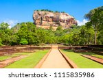 sigiriya rock or lion rock is... | Shutterstock . vector #1115835986