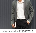 part of the body. a young man... | Shutterstock . vector #1115837018