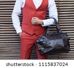 part of the body. men's fashion.... | Shutterstock . vector #1115837024