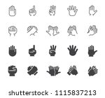 set of hands gesticulation... | Shutterstock .eps vector #1115837213