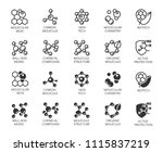 set of molecule model buttons.... | Shutterstock .eps vector #1115837219