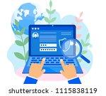 concept data protection ... | Shutterstock .eps vector #1115838119