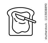toast icon vector | Shutterstock .eps vector #1115838890