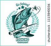 trout fishing   logo... | Shutterstock .eps vector #1115840036