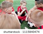 portrait of group of eager... | Shutterstock . vector #1115840474