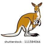 kangaroo female with joey  in... | Shutterstock .eps vector #111584066