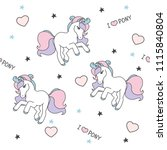 seamless pattern with cute... | Shutterstock .eps vector #1115840804