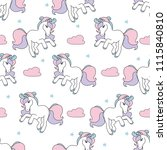seamless pattern with cute... | Shutterstock .eps vector #1115840810