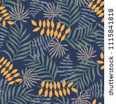 tropical background with palm... | Shutterstock .eps vector #1115841818