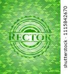 rector green emblem. mosaic... | Shutterstock .eps vector #1115842670