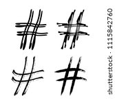 set of hashtag signs banner.... | Shutterstock .eps vector #1115842760
