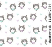 seamless pattern of cute... | Shutterstock .eps vector #1115842784