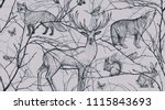 seamless pattern with tree... | Shutterstock .eps vector #1115843693
