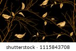 seamless pattern with tree... | Shutterstock .eps vector #1115843708