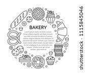 vector bakery shop banner... | Shutterstock .eps vector #1115845046