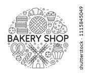 vector bakery shop banner... | Shutterstock .eps vector #1115845049