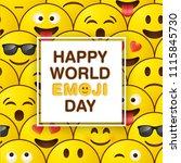 world emoji day greeting card... | Shutterstock .eps vector #1115845730