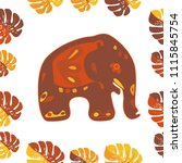 seamless asian pattern with... | Shutterstock .eps vector #1115845754